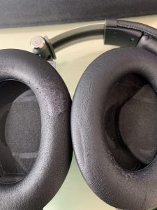 The cushions on my Sony Headphone with the PCV flaking off