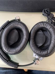 The new headphone cushions fitted