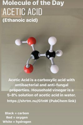 Acetic acid molecular model